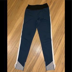 Zella sz XS workout pants colorblock navy